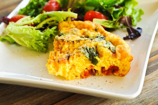 Fertility boosting recipe Sundried Tomato and Feta Cheese Quiche