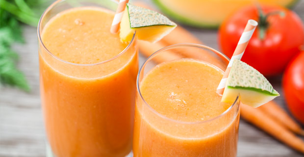 Healthy fertility recipe: Creamy Cantaloupe Smoothie