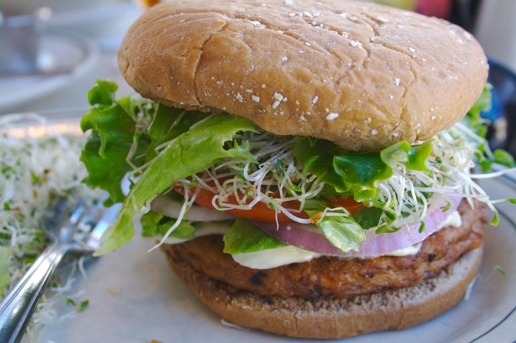 Food for fertiltiy: vegetarian burger