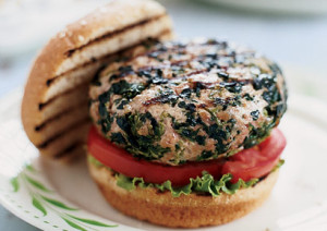Fertiliy boosting Spinach & Feta Cheese Burgers