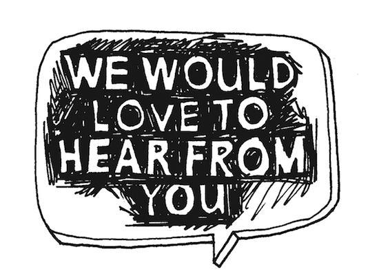 Image result for we would love to hear from you